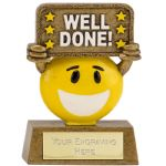 A1640 Smiley Face Well Done Award